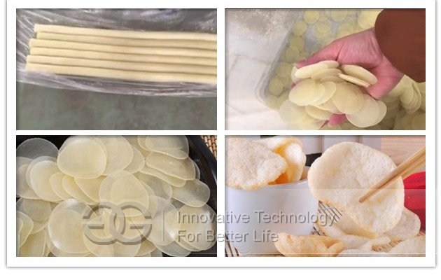 shrimp cracker slicing machine