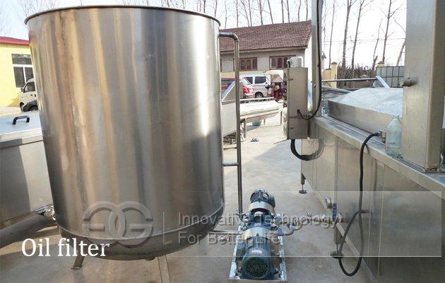 Oil filter machine