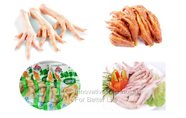 processed chicken feet