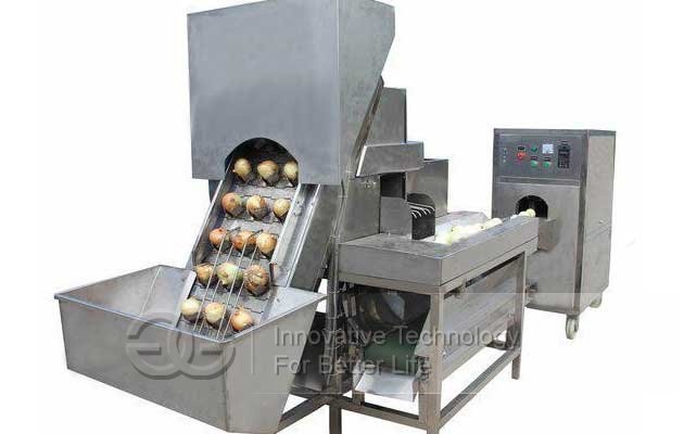 oniom peeling & root cutter machine