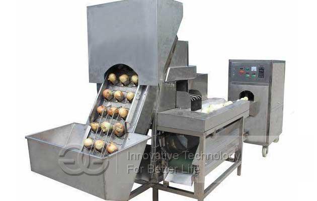 oniom peeling & root cutter machine