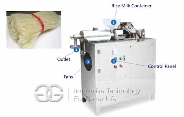 automatic rice vermicelli machine