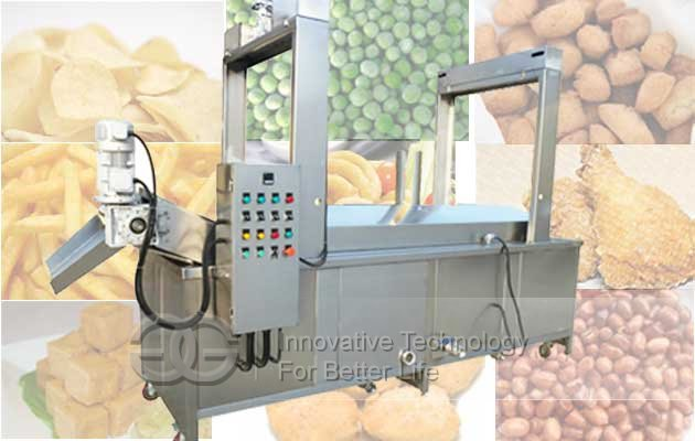 continuous snack food fyer machine
