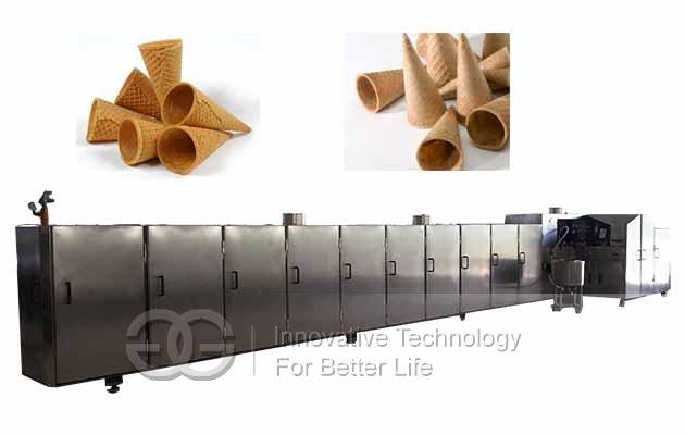 ice cream cones production line