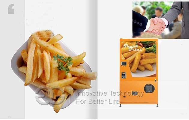 automatic french fries machine