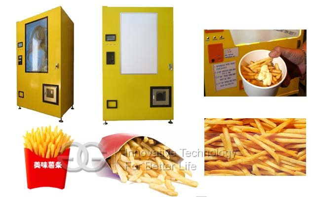 automatic french fries vending machine