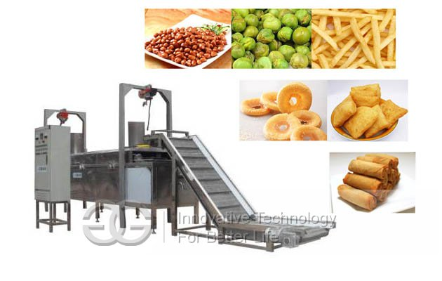 fryer machine with conveyor