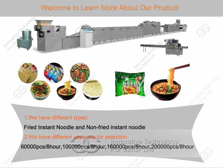 instant noodle processing machine