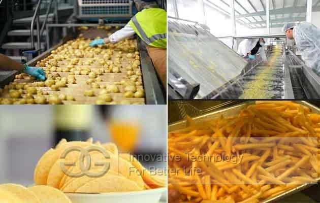potato chips making equipments