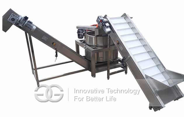 automatic vegetable dewatering machine