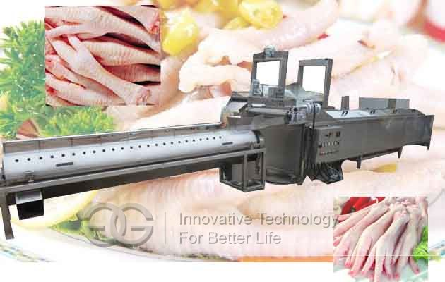 chicken paw peeling machine line