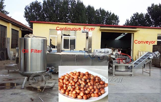 groundnuts frying machine