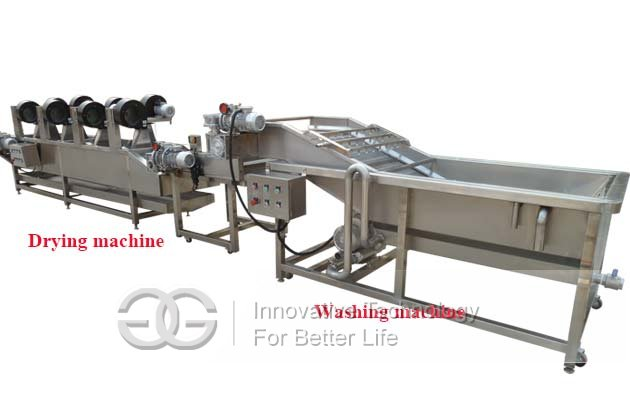 fruit vegetable washing drying line