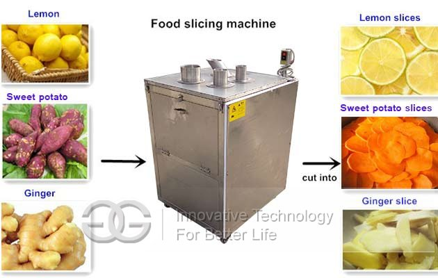 fruit vegetable slice cutter machine