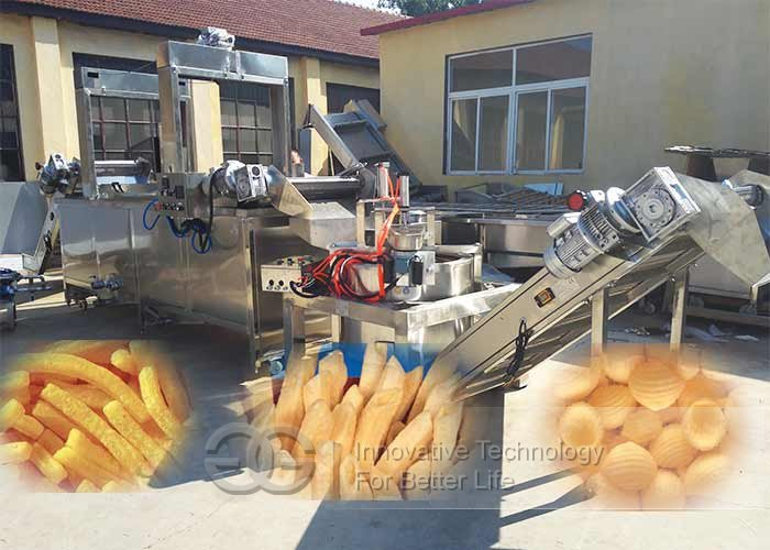 slanty chips frying machine