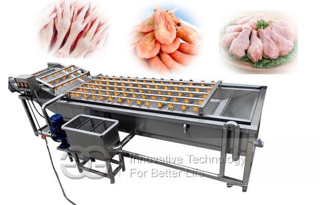 industrial chicken feet cleaner machine