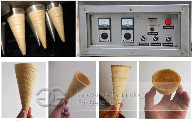 cone ice cream cup making machine