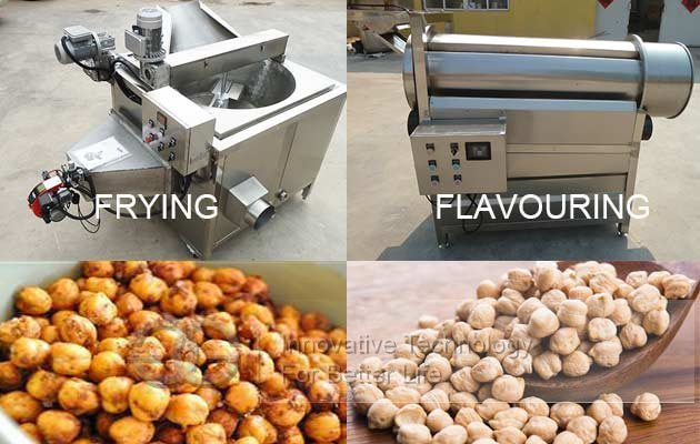 chickpeas frying line