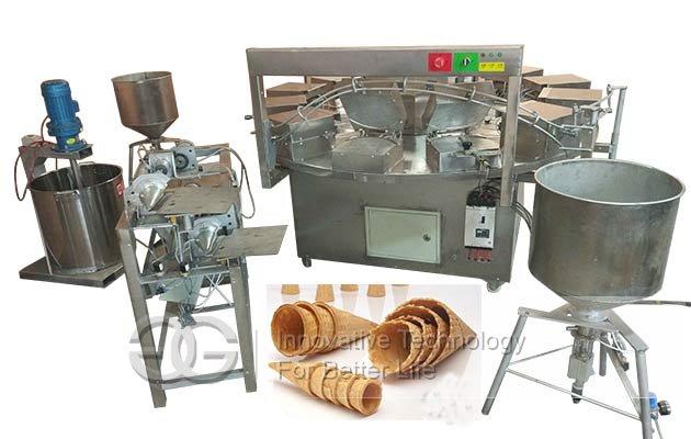ice cream waffle cones machine