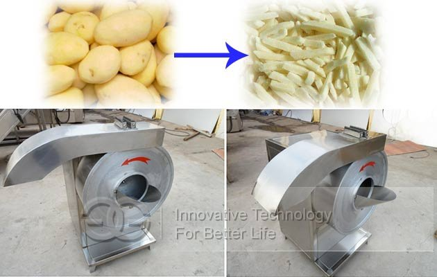 potato fry cutting machine