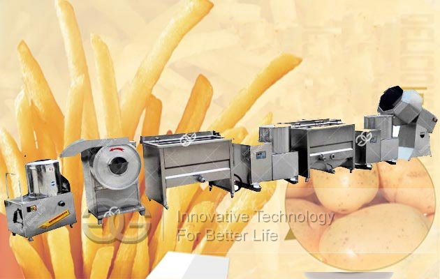 french fries manufacturing machine
