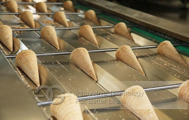 ice cream cones manufacturing machine