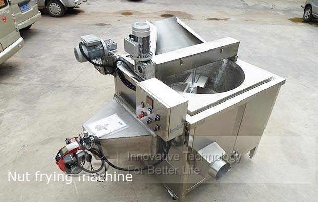coated peanut fryer machine