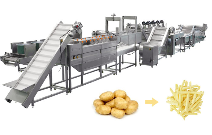 frozen french fries making machine
