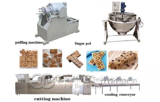 puffed cereal bar making machine