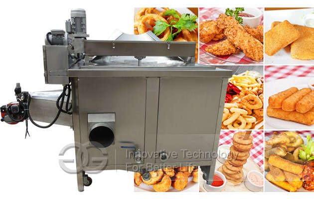automatic frying machine snack food