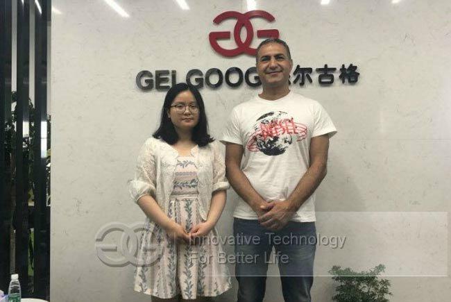 Customer visiting GELGOOG Guangzhou
