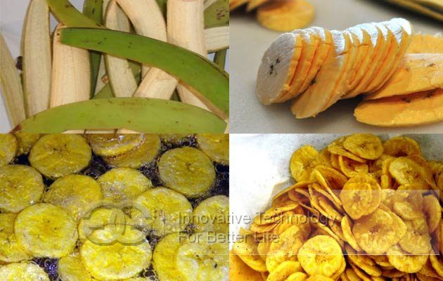 plantain chips production