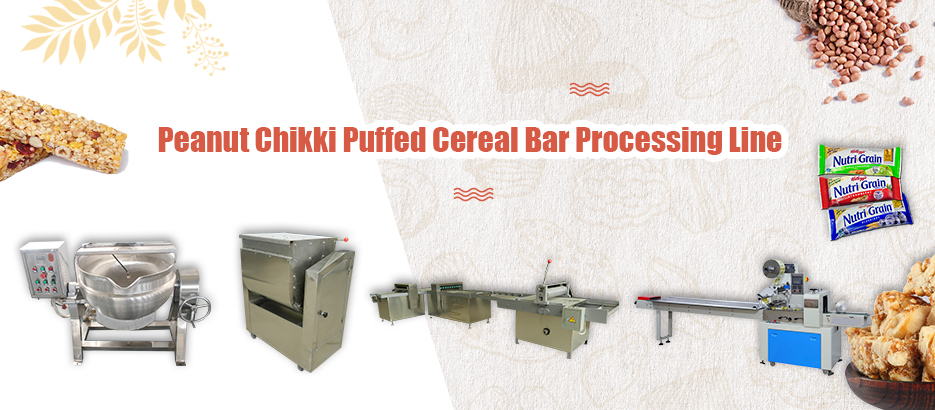 Peanut Chikki Puffed Cereal Bar Processing Line