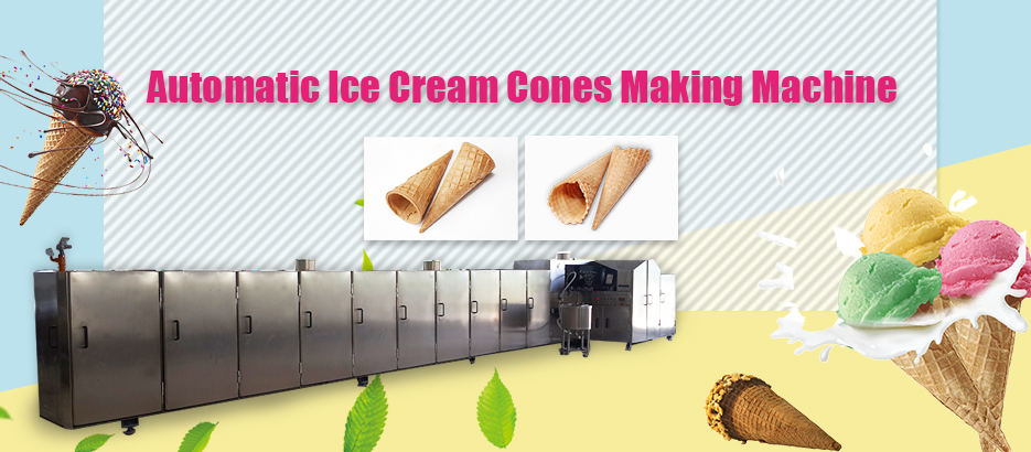 Automatic Ice Cream Cones Making Machine