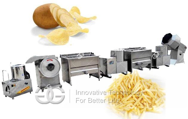 frozen potato fries making machine