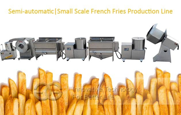 small scale frozen fries machine