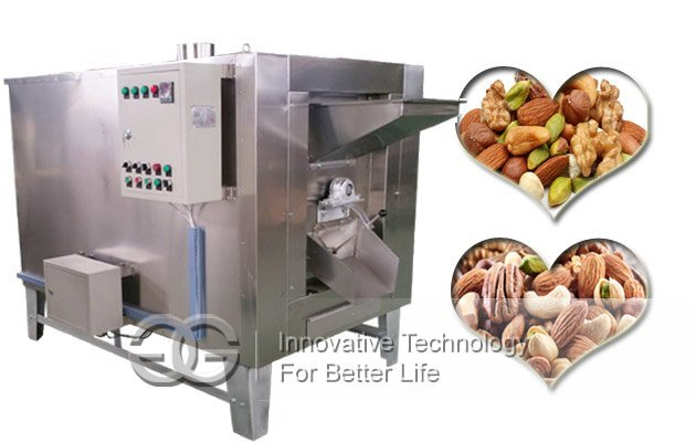drum type nut roaster machine