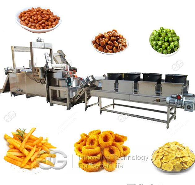 fried peanut processing line