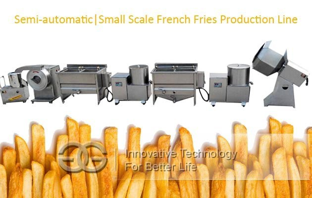 small scale french fries making machine
