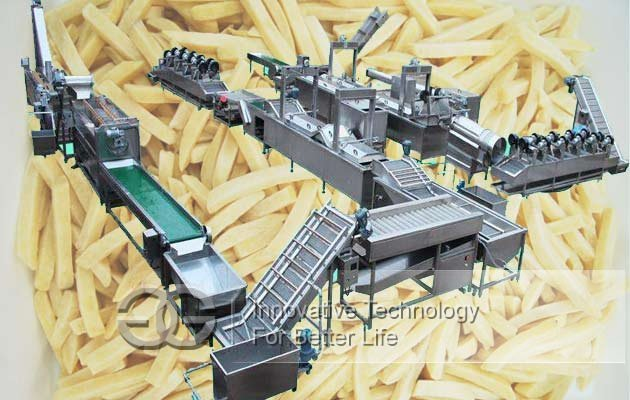 french fries automatic line