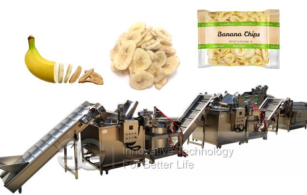 automatic banana chips frying line