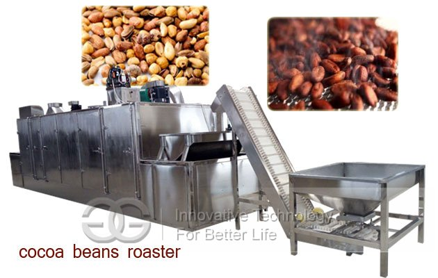 cocoa beans roaster machine