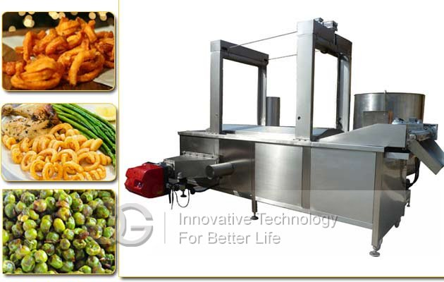 snack chips automatic frying machine