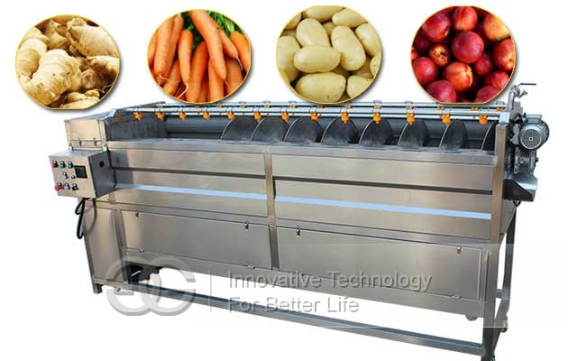 ginger washing peeling machine