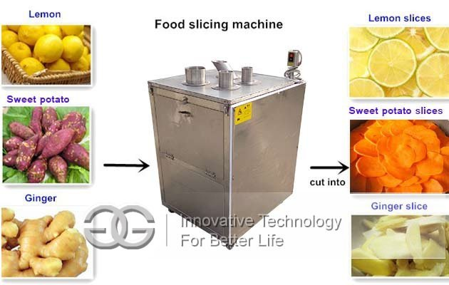 fruit slice cutting machine