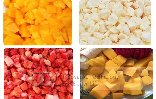 fruit cubes cutting machine