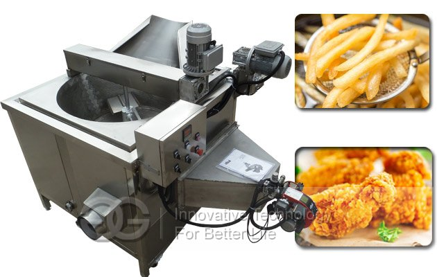snack chips peanuts frying machine
