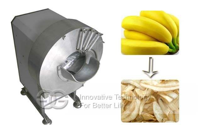 Longitudinal plantain slicing machine