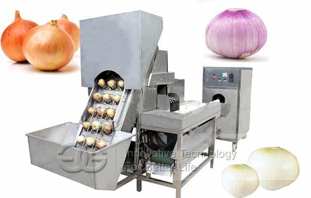 automatic onion peeling line