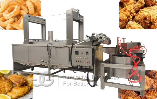 fish chicken frying machine